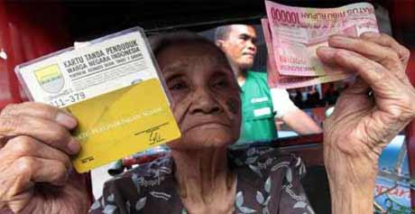 Bantuan Langsung Sementara Masyarakat. foto: Tribunnews.com