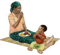 pemberian makan yang responsif aktif